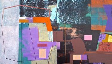 "Saatchi Art Artist Jim  Harris; Painting, "" Verklärte Nacht. Diptych."" #art"