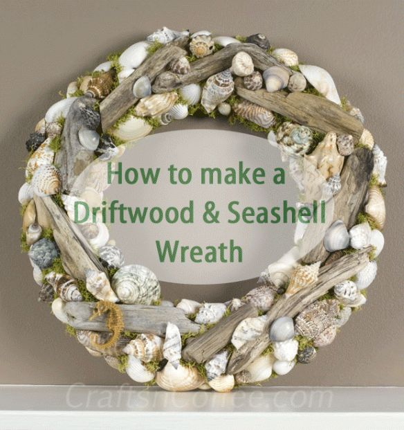 This is a beautiful wreath!  Perfect for those summer vacation beach finds. Tutorial on CraftsnCoffee.com.