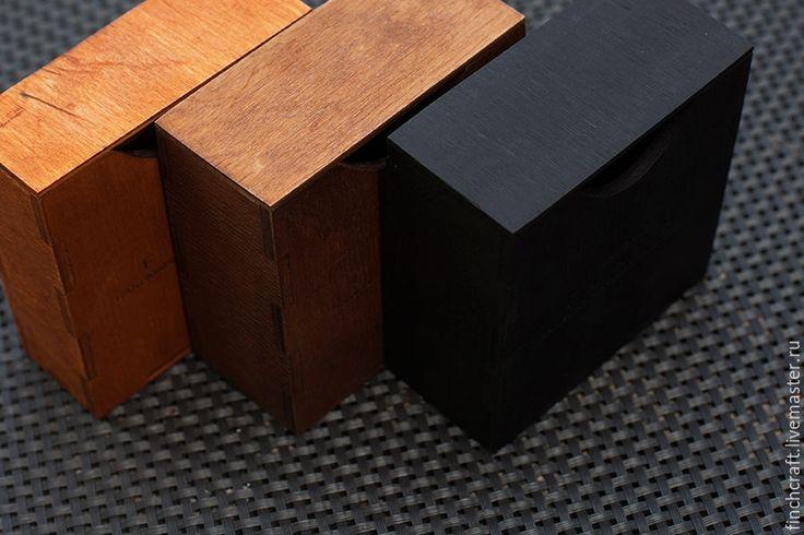 Купить Деревянная упаковка браслетов Finch - стандарт - черный, деревянная коробка, упаковка, коробочка, фанера