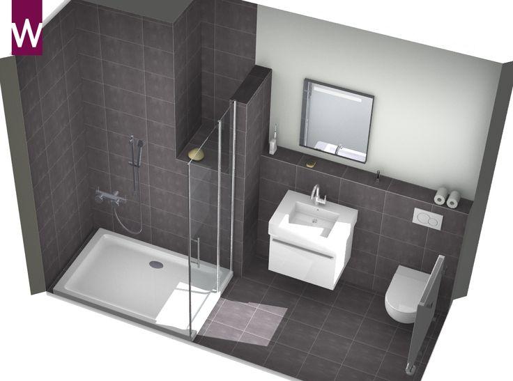 Kleine badkamer kleine badkamer pinterest kleine for Ontwerp badkamer 3d