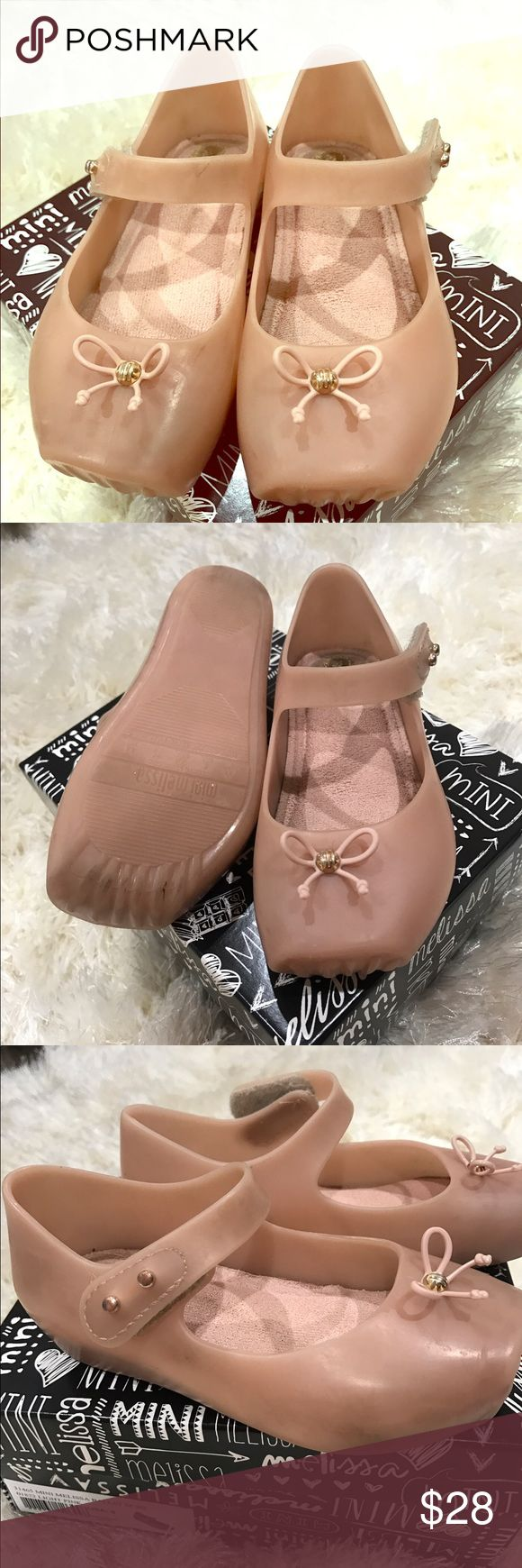 Flash sale 🎉🎊Mini Melisa Ballet Normal wear mini Melissa ballet pair. It's smells great and comes with the box and dust bag. It's pre-loved pair. Such a cute pair for many cute dresses. Mini Melissa Shoes Dress Shoes