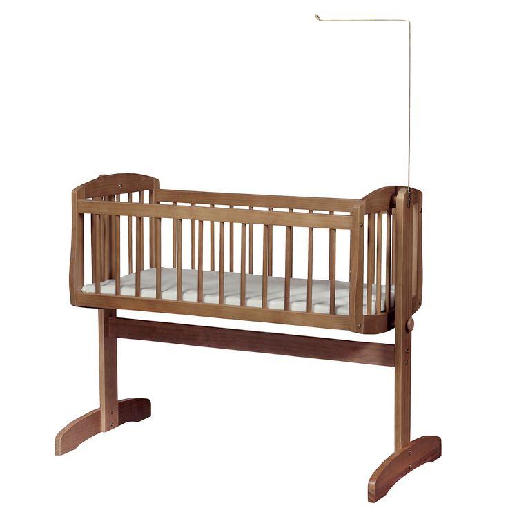 Kub Vagga Swinging Crib With Mattress Dark