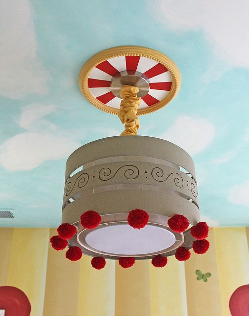 Vintage circus nursery ceiling light | Flickr - Photo Sharing!