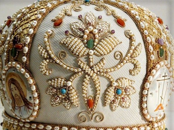 Russian pearl embroidery