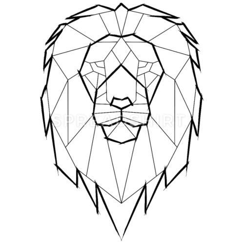 Löwe Geometrisch Geometrie – schwarz Frauen Premium T-Shirt – Weiß