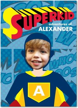 Superkid adventures! Comic book hero birthday cards for boys from treat.com