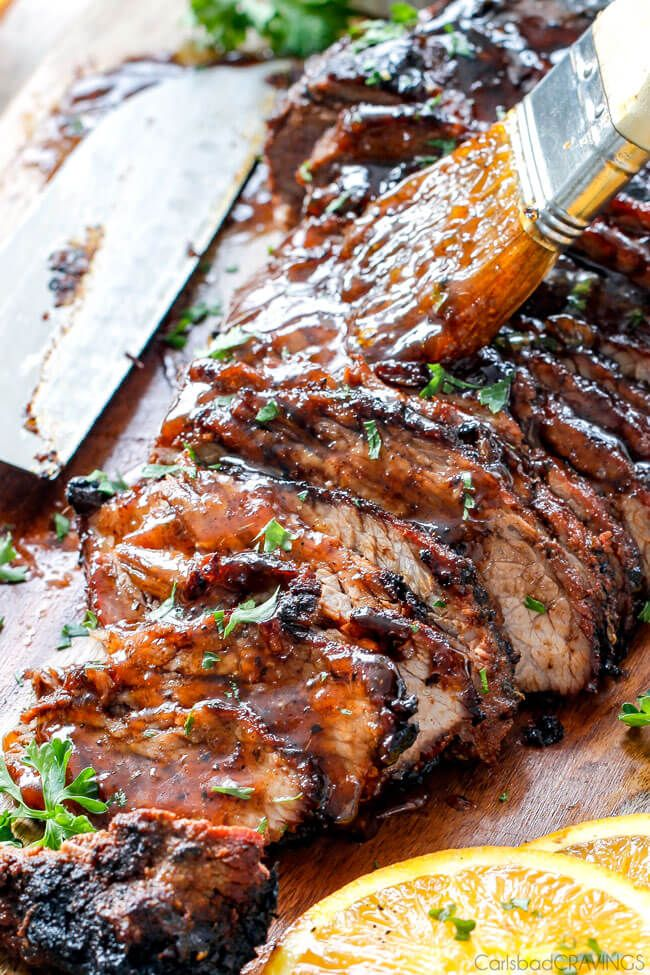 Grilled Cajun Steak with Sweet Orange Apricot Glaze – this Cajun marinade and rub is SO crazy flavorful! The steak turned out SO juicy and tender and was gone in a flash. And don't skip the Sweet Orange Apricot Glaze – it compliments the heat perfectly!