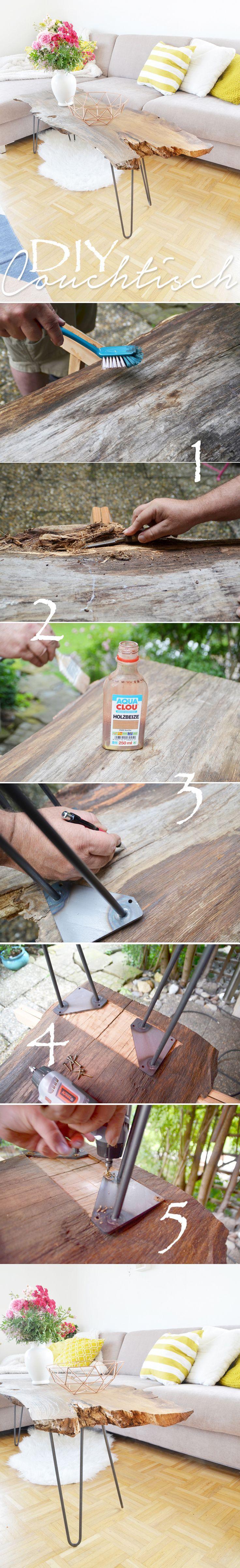 Do It Yourself- Möbel: Couchtisch aus Massivholz (Eiche) selber bauen: Das einf – Pinaction