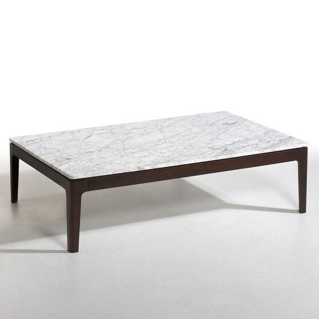 Table basse rectangulaire plateau marbre, Helda