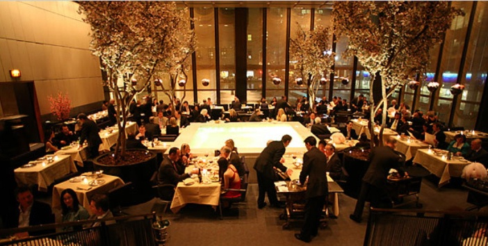 Four Seasons Restaurant NYC- try the crabcakes and cold salmon with wasabi sauce