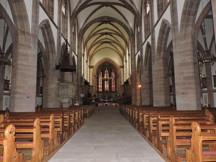 Intérieur de la Collégiale Saint-Florent à Niederhaslach en Alsace