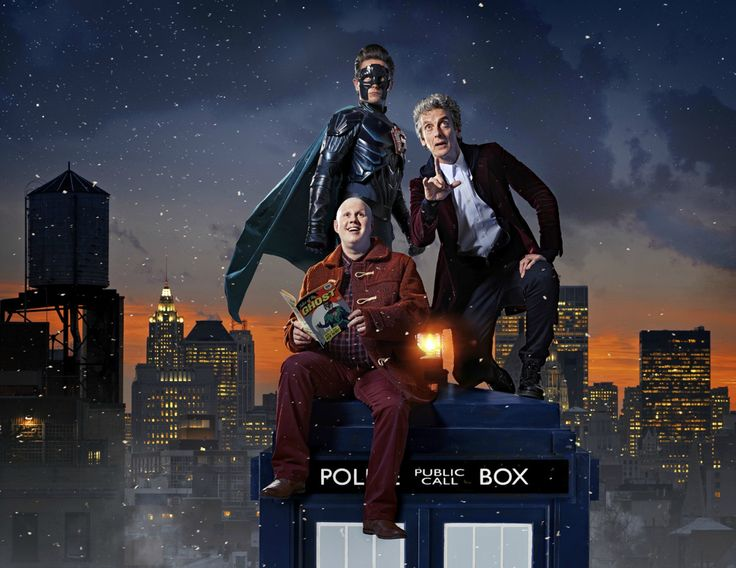 "doctorfriend79: "" The Ghost (Justin Chatwin), Nardole (Matt Lucas) & The Twelfth Doctor (PeterCapaldi) Doctor Who: The Return Of Doctor Mysterio """