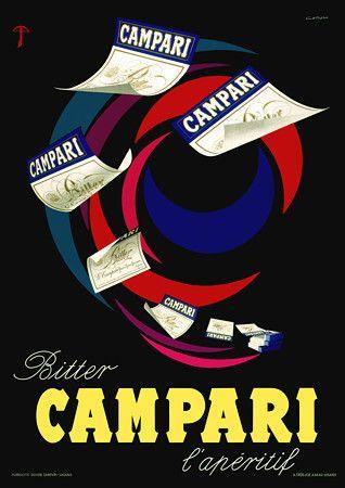 Vintage Italian Posters ~ #illustrator #Italian #vintage #posters ~ Bitter Campari L'Aperitif