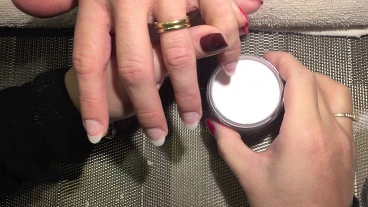 SNS Dipping French Tip   Step by step