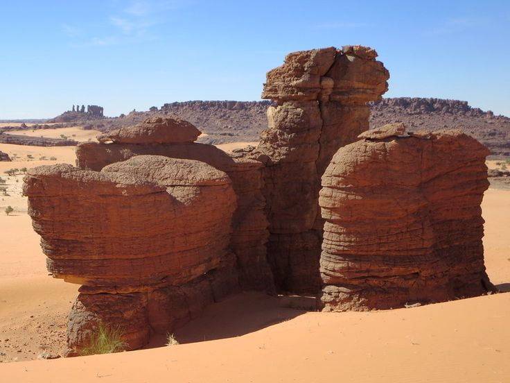 The view from Abaike in the Ennedi Mountains of northeastern Chad, Central Africa, is breathtaking.