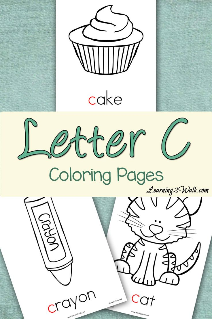 Coloring pages for the letter c - Preschool Letter Activities Letter C Coloring Pages