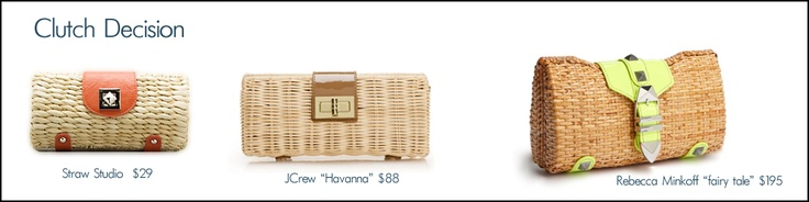 3 WOVEN PURSES PERFECT FOR SUMMER