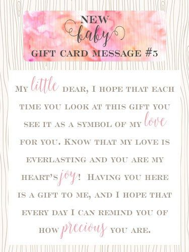 New Baby Boy Gift Message : Best images about new baby gift card messages on
