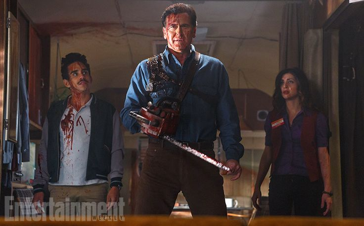 Give him some sugar, baby, because Ash has returned after a 22-year-haitus from fighting deadites. And we've got your first groovy image of Bruce Campbell back as Ash right here.
