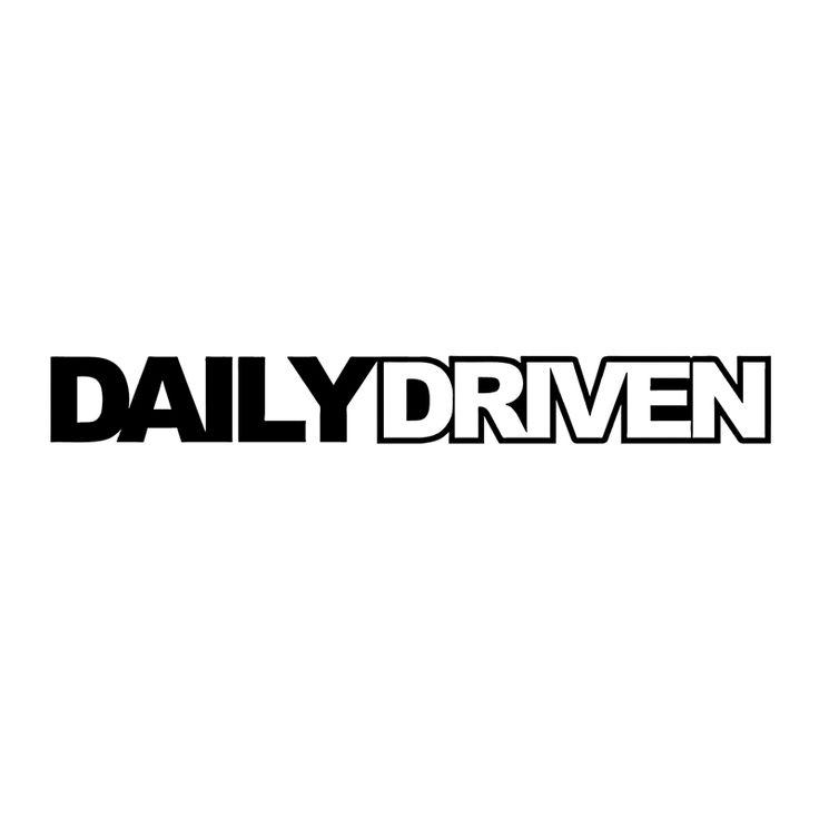 HotMeiNi Daily driven sticker slammed stance Funny drift Car Stickerwindow decal Boat Laptop Vinyl Decal