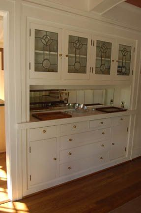 Cottage Style Built In Buffet