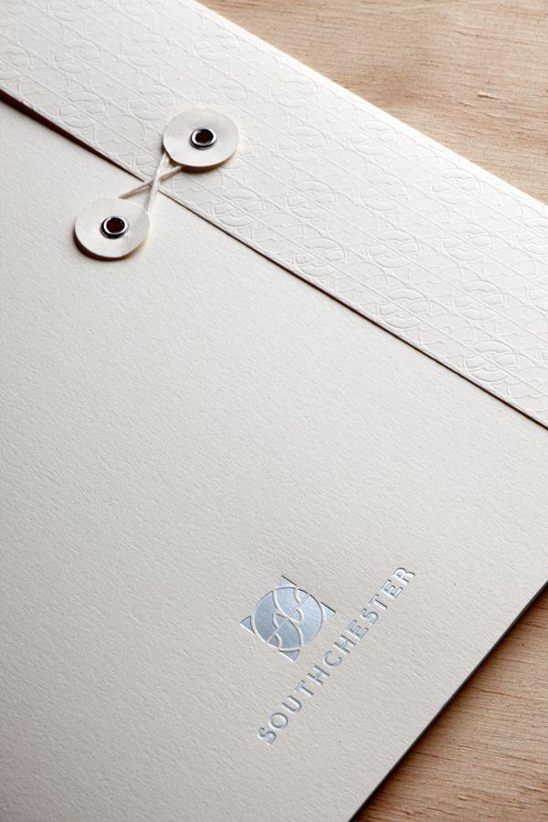 lovely presentation folders  Southchester Corporate Identity on Behance