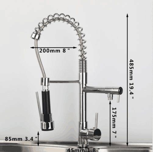 UK Chrome Kitchen Faucet Spring Style Dual Spout Sprayer Single Handle  Brass Tap In Home, Furniture U0026 DIY, Kitchen Plumbing U0026 Fittings, Kitchen  Taps