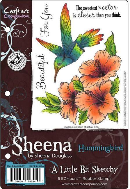Sheena's A Little Bit Sketchy EZMount Stamp - Hummingbird