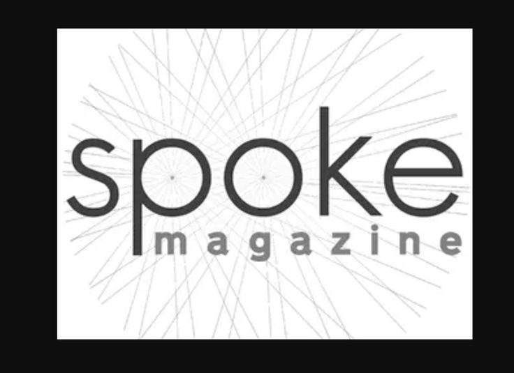 Spoke Magazine Their second logo is more cycling suggestive. The faded criss-cross of lines in within a circle speak wheels and a cycling nature.You can look at this and know it's cycling related.