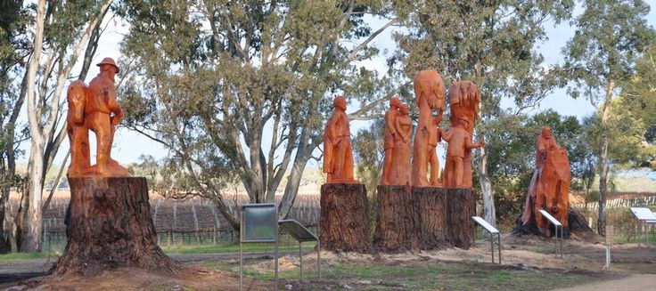 70 Km North of Mount Gambier you will find Father Woods Park. This is a collection of beautifully carved representations of people connected with Sister Mary MacKillop, Australia's first Saint.