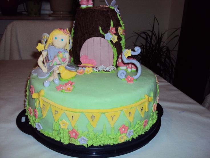 Fairy garden birthday cake for my fairy-daughter!