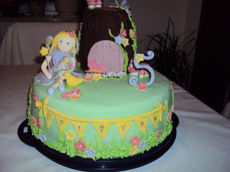 Fairy garden birthday cake for my fairy-daughter!
