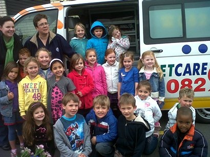 The Blouberg Preparatory Campus Badgers and Otters went on an outing to Netcare Hospital.  The theme for the week was hospitals, doctors and dentists.  At Netcare they saw the inside of an ambulance and the ER.