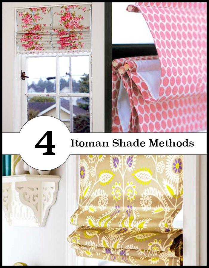 4 Different Ways To Make Roman Shades Sewing Tutorials
