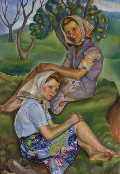 Canadian Modern Art - Young Girls - Prudence Heward - Beaver Hall Group Follow the biggest painting board on Pinterest: www.pinterest.com/atelierbeauvoir