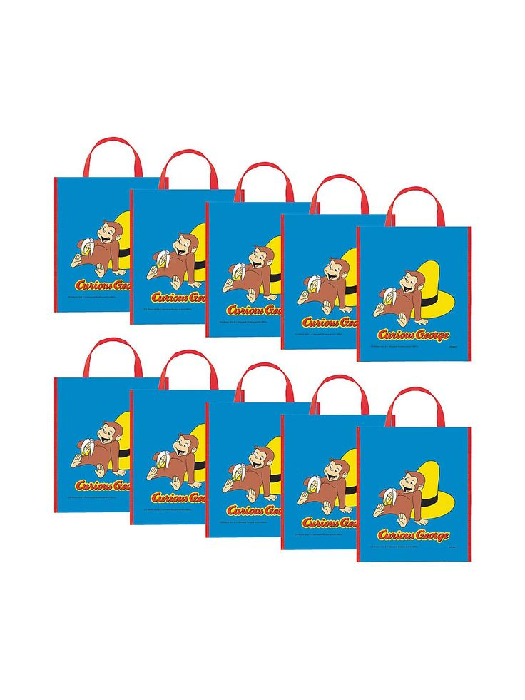 Curious George Party Tote Bag - kids and adults Favor Bags & Boxes & Party Favors