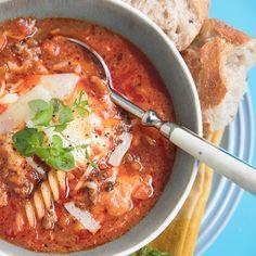 Lasagnesuppe med karbonadedeig og ost | EXTRA -
