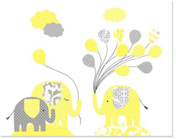 128 best Elephant Nursery Art images on Pinterest