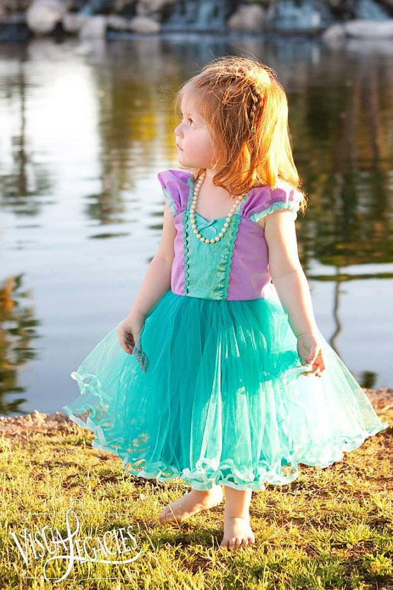 Mermaid dress  princess Tutu dress for by loverdoversclothing, $58.00