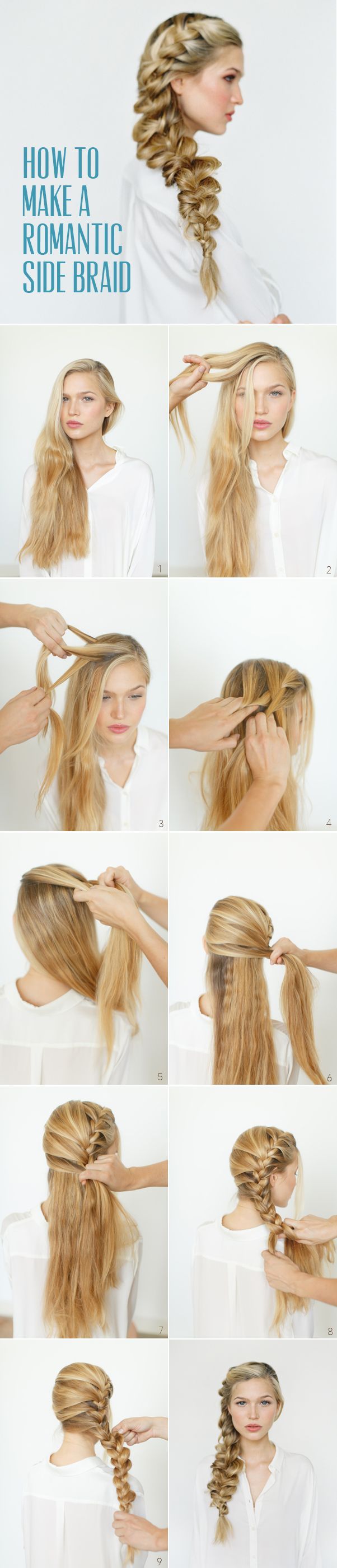 How to make a romantic side braid