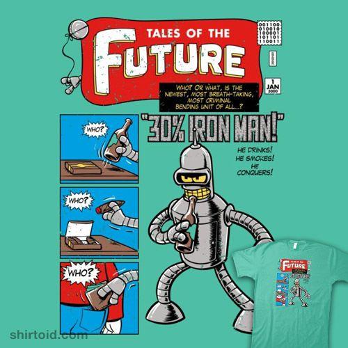 Tales of the Future   Shirtoid #bender #comic #comics #film #futurama #movie #nathandavis #obvian #robot #tvshow