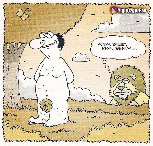 Arkadaşlarınızı etiketlemeyi unutmayın #YiğitÖzgür #YigitOzgur #Karikatur #Karikatür #Komik #adem #kral #aslan
