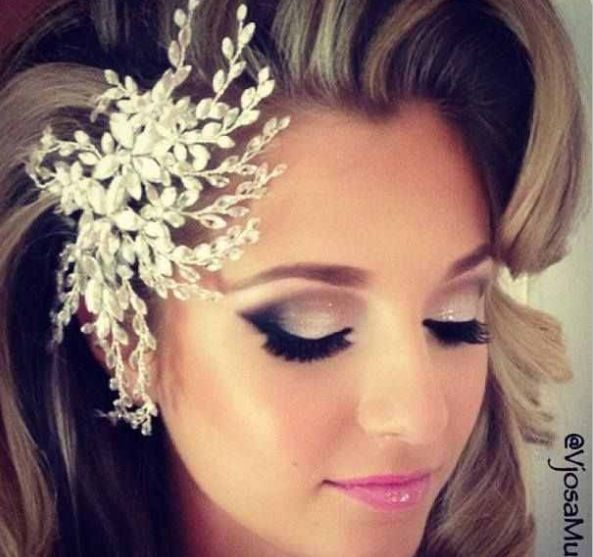 Super cute and simple wedding make up