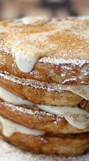 Cinnamon French Toast with Cream Cheese Glaze