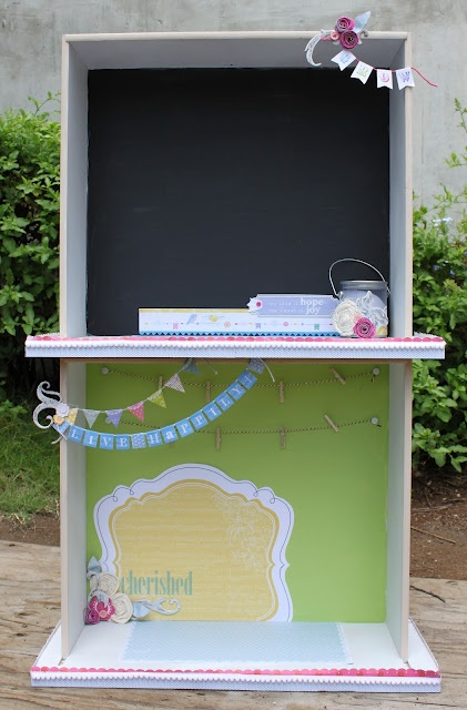 Darling idea for 2 drawers stacked together!!
