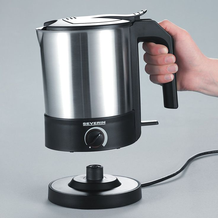 Amazon.de: Severin WK 3369 Wasserkocher (1800 Watt, 1, 5 Liter, Temperaturregler) Edelstahl-gebürstet-schwarz