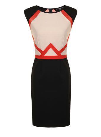 Little Mistress Multi colour bodycon dress- like the geometric print
