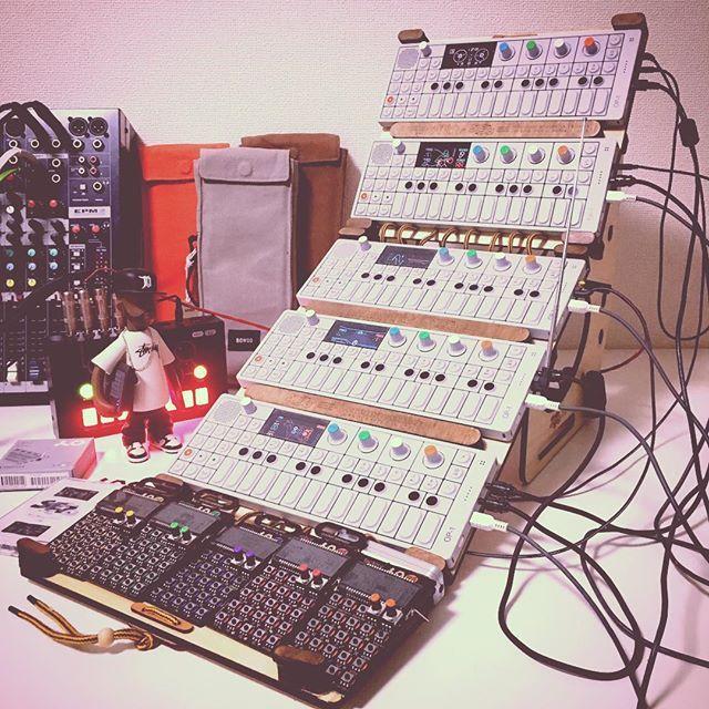 my teenage engineering sound system...  #teenageengineering #op1 #cmxte #cheapmonday #FactMusicGear #pocketoperator #cremacaffedesign @teenageengineering @factmag @cremacaffeshop