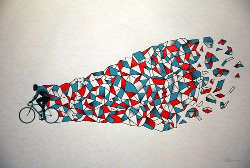 ARTCRANK bike poster. #geometric #bike #art