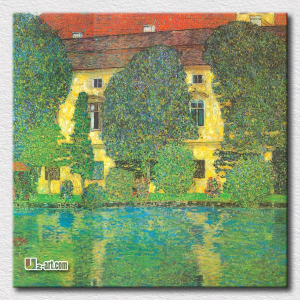 Gustav Klimt Landscapes | gustav klimt landscapes oil painting tree and house scenery canvas ..